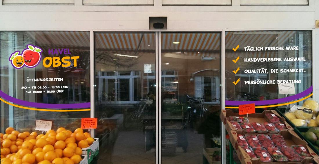 Schaufensterbeklebung - Havelobst
