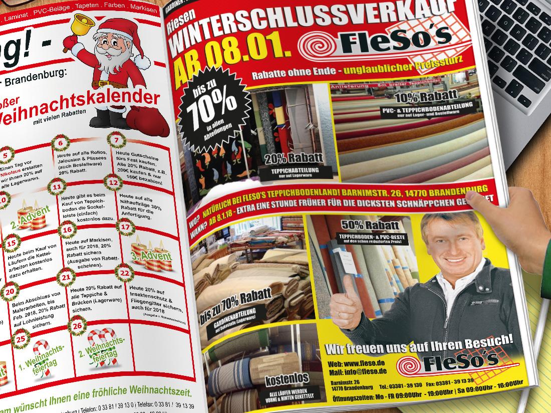 Printdesign - Fleso's Teppichbodenland GmbH