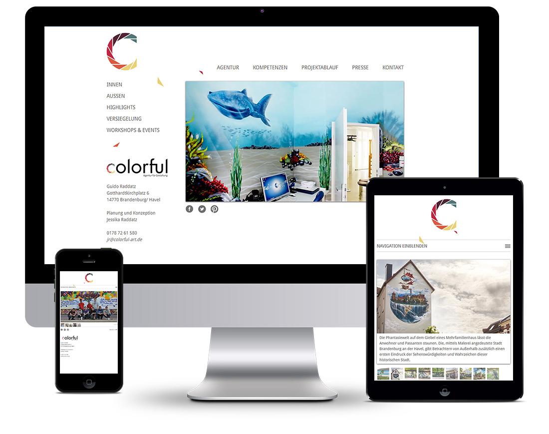 Webdesign Colorful - Agentur für Gestaltung