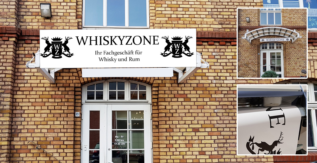 Werbeschild Whiskyzone
