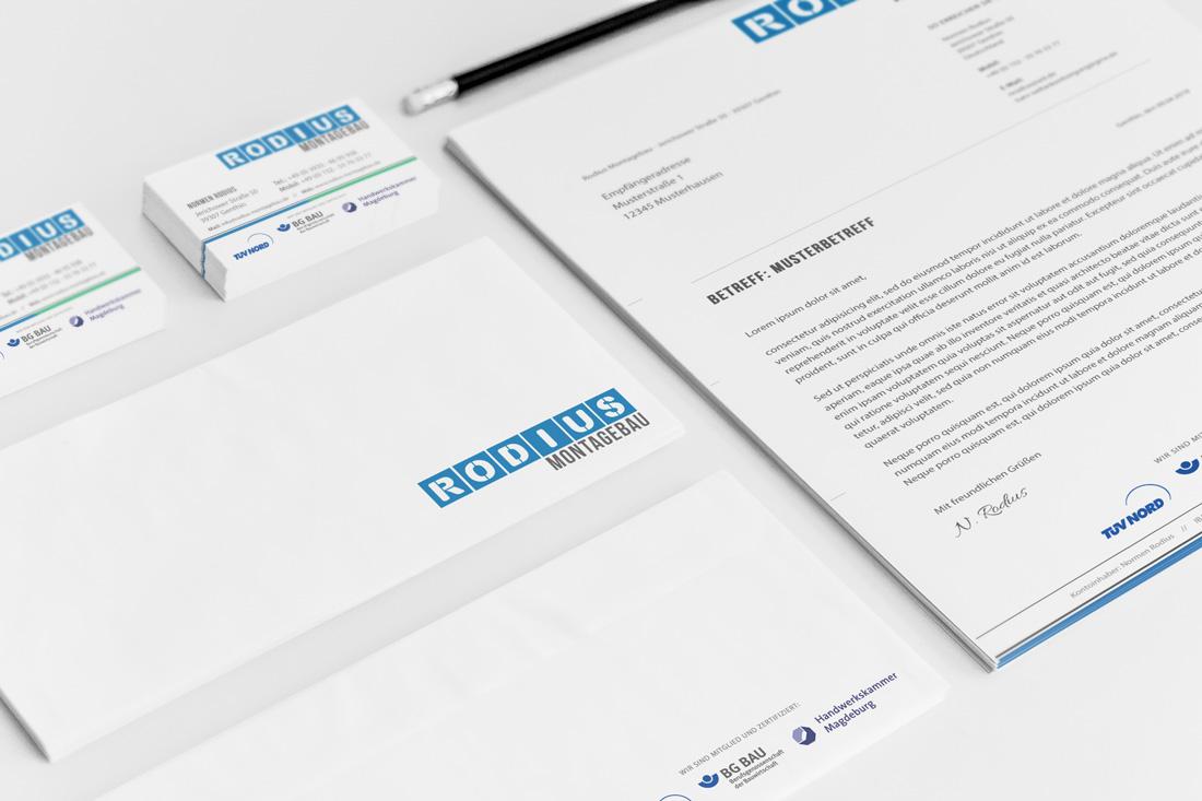 Corporate Design Rodius Montagebau