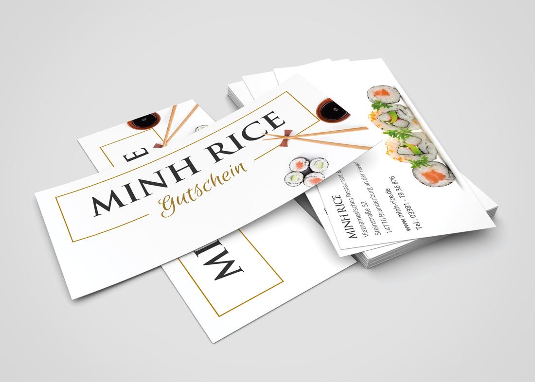 Minh Rice Gutschein Flyer