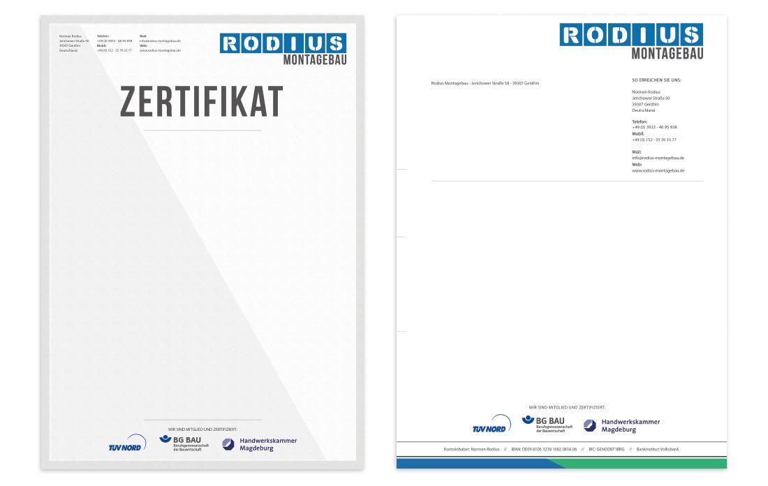 Printmedien Rodius Montagebau