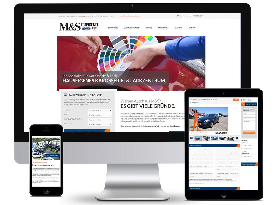 Responsive Webdesign Autohaus M&S