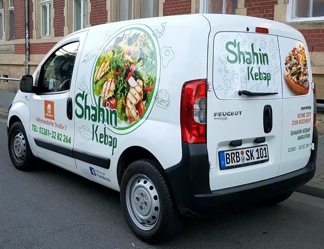 Shahin Kebap Fahrzeugbeklebung Brandenburg