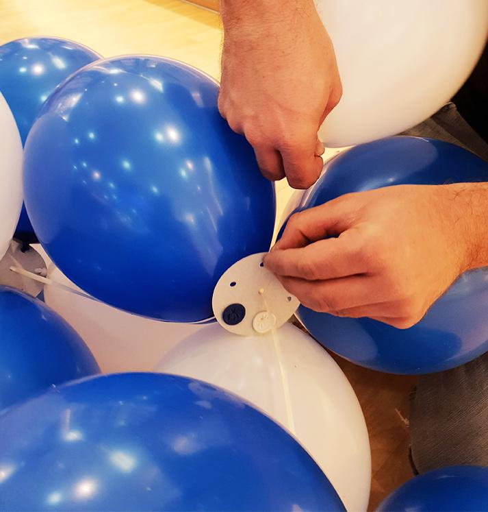 Luftballongirlande Apollo Optik Brandenburg